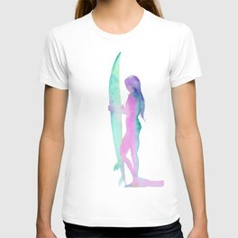 Sunrise Surf, Surf Art, Surfboard Decor T-shirt