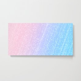 Light blue pink confetti glitter Metal Print