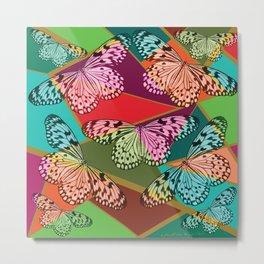Abstract Butterflies Metal Print