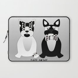 Date Night  - French Bulldogs Laptop Sleeve