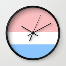 Red White & Blue Wall Clock