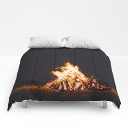 BONFIRE - FIRE - HOT - PHOTOGRAPHY Comforters