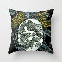 sneaker Throw Pillows featuring Sneaker Head by lilbudscorner