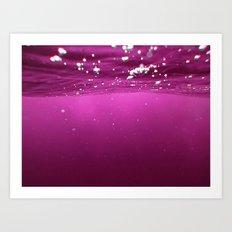 Pink Velvet Ocean Art Print