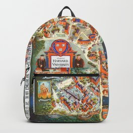 HARVARD University map MASSACHUSETTS Backpack