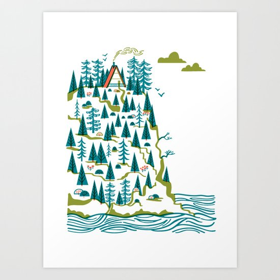 Big Sur A-Frame Art Print