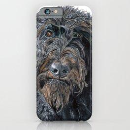 Pokey the Black Labradoodle iPhone Case