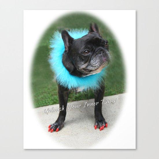 Diva Dog Canvas Print
