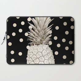 Gold Pineapple Polka Dots 3 Laptop Sleeve