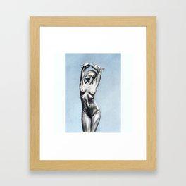 Nude Pastel Framed Art Print