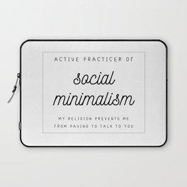 social minimalism ugh go away Laptop Sleeve
