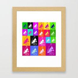 Rainbow Bat Montage Framed Art Print
