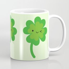 Kawaii Lucky Four Leaf Clover Coffee Mug