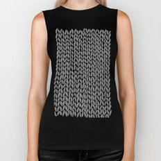 Hand Knit Dark Grey Biker Tank