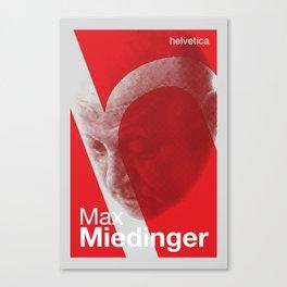 Max Miedinger - Helvetica Canvas Print