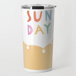 Sunday in Yellow Travel Mug