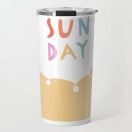 Sunday in Yellow Travel Mug