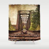 Railroad Bridge 2 Shower Curtain