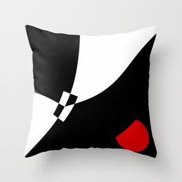 Black and white meets red version 32 Throw Pillow