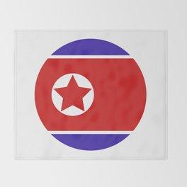 north korea flag Throw Blanket