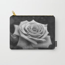 Pink Roses in Anzures 4 B&W Carry-All Pouch