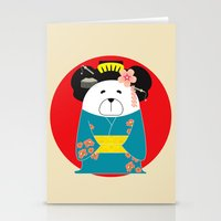 geisha Stationery Cards featuring Geisha by EinarOux