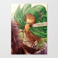 snk Canvas Prints featuring SnK-Jean by Gin-Uzumaki