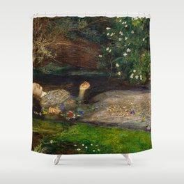 Ophelia, John Everett Millais Shower Curtain