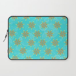 Mint Chip Flowers Laptop Sleeve