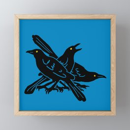 Austin Grackles Framed Mini Art Print