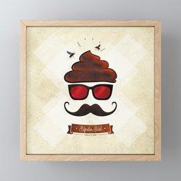 Hipster Hat Framed Mini Art Print