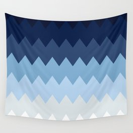 Blue geometric pattern Wall Tapestry