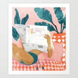 Morning News Art Print