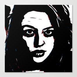 Dark Portrait Canvas Print