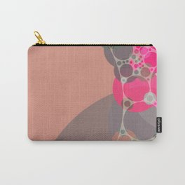 stephanie - bright abstract in shades of pink blush fuschia pale geranium grey Carry-All Pouch