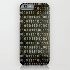 The Binary Code - Distressed textured version iPhone 6s Slim Case