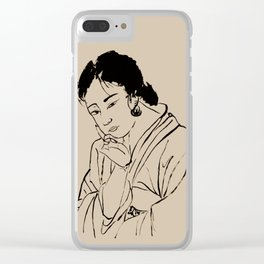 Lady Elegance Clear iPhone Case