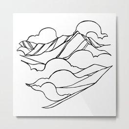 Garibaldi, Squamish :: Single Line Metal Print