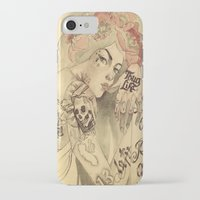 mucha iPhone & iPod Cases featuring mucha chicano by paolo de jesus