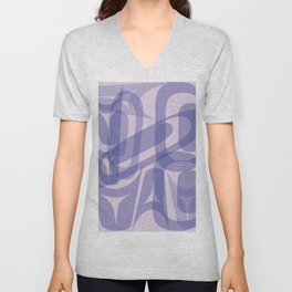 Abstract Formline Purple Unisex V-Neck