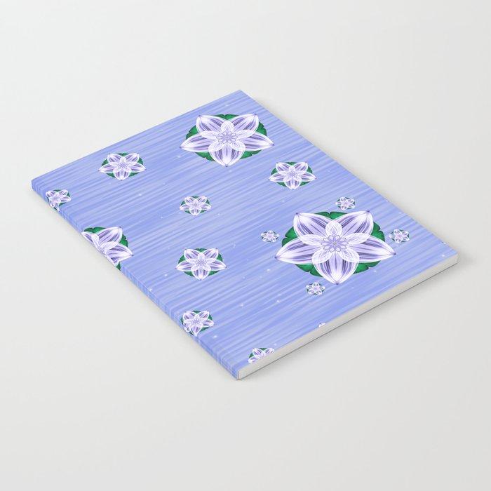 Frozen Floating Flower Notebook
