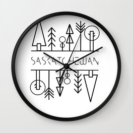 Saskatchewan Trees Wall Clock