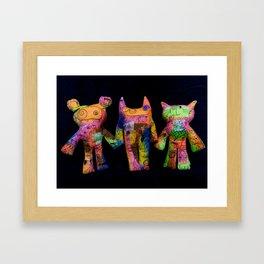 Grunge Gang Framed Art Print