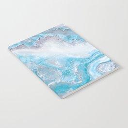 Ocean Foam Mermaid Marble Notebook