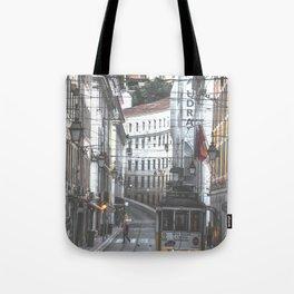Lisbon Street Tram Tote Bag