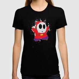 Red Shy Guy Splattery Design T-shirt