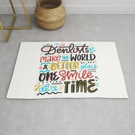 Dentist Lettering Quote Rug