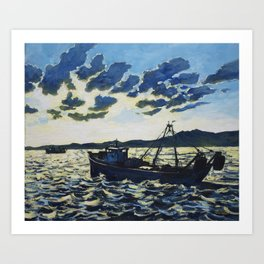 Fishing 1 Art Print