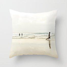 Sintra beach Throw Pillow