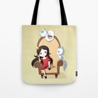 princess Tote Bags featuring Princess by Freeminds